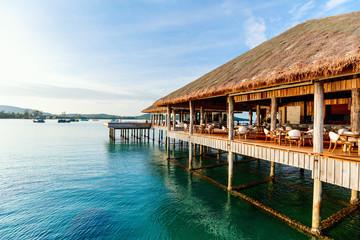 Luxury resort bar