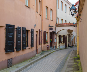 Wall Mural -  small picturesque street of Vilnius