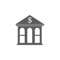 bank icon. Element of buildings for mobile concept and web apps. Icon for website design and development, app development. Premium icon
