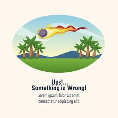 Error 404 meteor theme icon vector illustration graphic design
