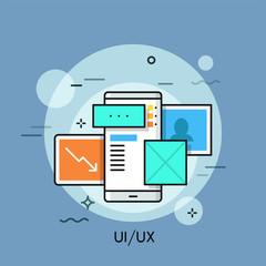 UI,UX thin line concept