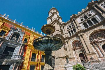 Public building in Malaga, Spain