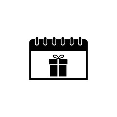 calendar with a birthday icon. Element of calendar for mobile concept and web apps. Icon for website design and development, app development. Premium icon