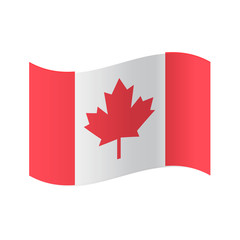 Canada flag, official colors and proportion correctly. National Canada flag vector illustration. High detailed vector flag of Canada. Canada flag, vector illustration. Vector illustration.
