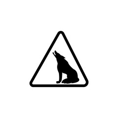 sign danger wolves icon. Element of warning for mobile concept and web apps. Icon for website design and development, app development. Premium icon