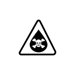 sign danger chemicals icon. Element of warning for mobile concept and web apps. Icon for website design and development, app development. Premium icon