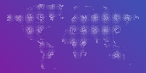 Vector colorful dotted Map of the World