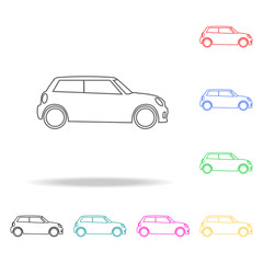 Hatchback mini car icon icon. Transport Element multi colored icons for mobile concept and web app. Thin line icon for website design and development, app development. Premium icon