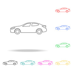 car coupe icon icon. Transport Element multi colored icons for mobile concept and web apps. Thin line icon for website design and development, app development. Premium icon