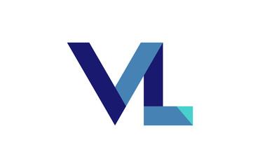 VL Ribbon Letter Logo