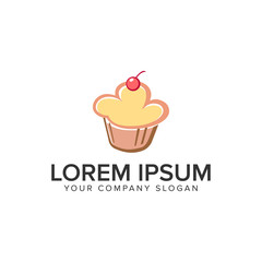 cake food logo design concept template. fully editable vector
