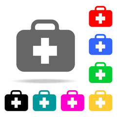 first aid kit icon. Element firefighters multi colored icons for mobile concept and web apps. Icon for website design and development, app development. Premium icon