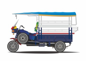 Asian auto rickshaw vector