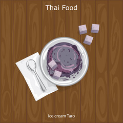Thai Dessert Ice cream Taro