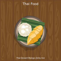 Thai Dessert Mango sticky rice