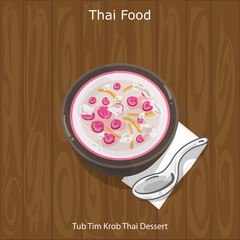 Thai Dessert Tub Tim Krob