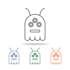 Alien Cartoon icon. Element of a space multi colored icon for mobile concept and web apps. Thin line icon for website design and development, app development. Premium icon