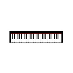 Piano keyboard vector isolated in white background.