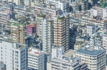 crowded building in Hong Kong city