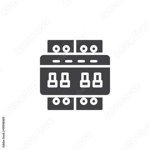 u0026quot circuit breaker switch icon vector  filled flat sign  solid pictogram isolated on white