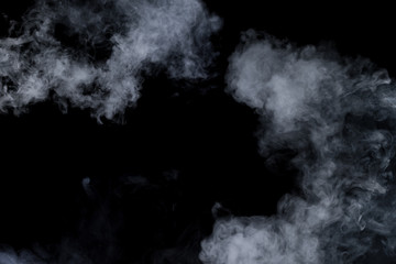 Smoke on black background Wall mural