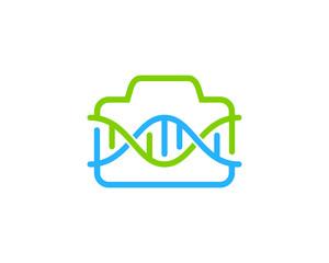 Dna Camera Icon Logo Design Element