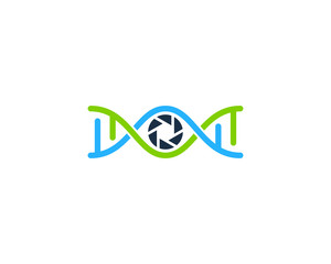 Dna Photo Icon Logo Design Element
