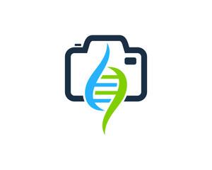 Camera Dna Icon Logo Design Element