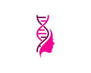 Beauty Dna Icon Logo Design Element