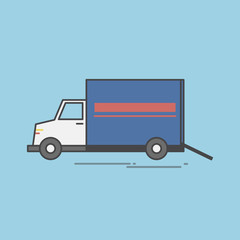 Illustration of logistics service