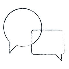 speech bubbles isolated icon vector illustration design