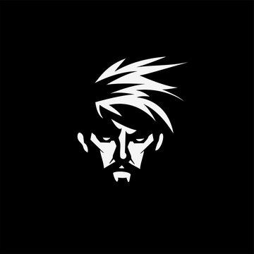 Face of a bearded man vector illustration.