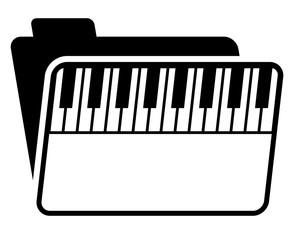 piano music folder image vector icon logo