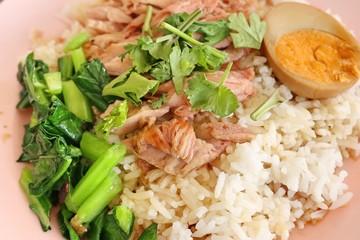 rice with pork leg