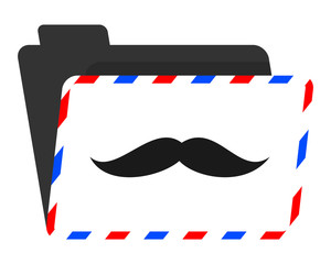 mustache fashion map image vector icon logo