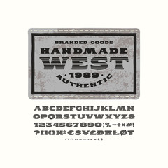 Striped serif font in the style of handmade graphics