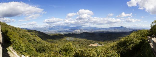 panorama of matese park from lattani mount campania