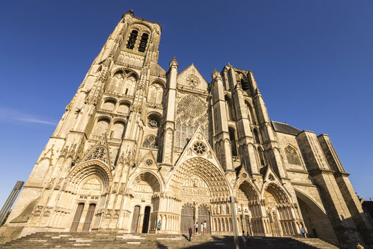 Bourges Cathedral, a Roman Catholic church located in Bourges, France, dedicated to Saint Stephen