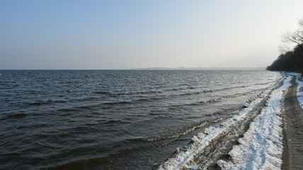 winter impressions from zatoka pucka, here you can see photos of the beach and the panorama, pomerania, poland, europe