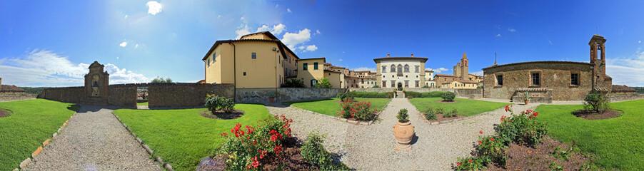 Monte San Savino, palazzo di monte con giardini a 360°