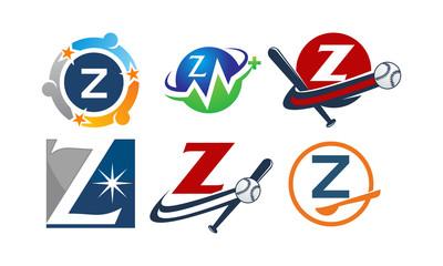 Logotype Z Modern Template Set
