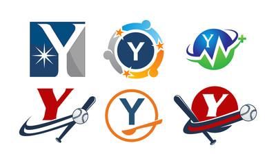 Logotype Y Modern Template Set