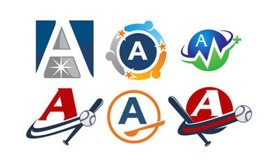 Logotype A Modern Template Set