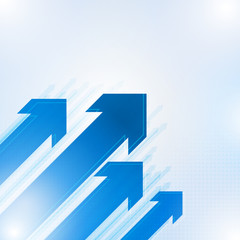 Blue abstract arrows background, Vector illustration
