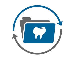 tooth dental folder icon image vector icon logo