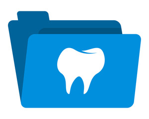 dental folder image vector icon logo