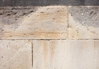 Old White Stone Wall Closeup.
