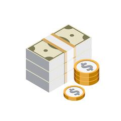 Argent Billets Pièces dollar