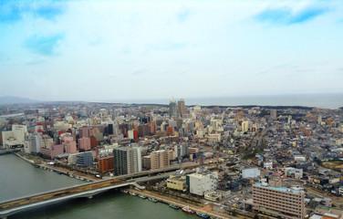 日本 新潟 新潟島 街並み Niigata Niigatajima Townscape
