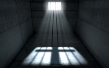 Sunshine Shining In Prison Cell Window